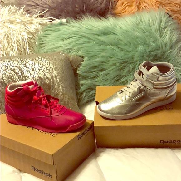 Reebok Shoes - HI Top Reebok Classics SIze 8.5 Pink Only